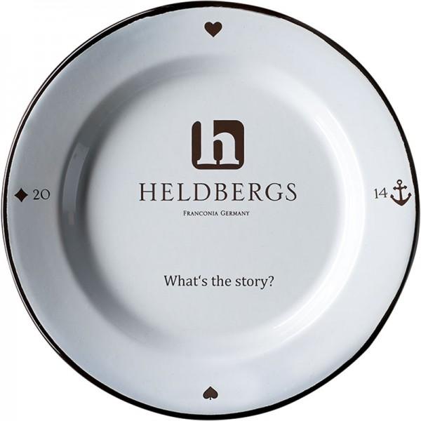 Emaille Teller-Set von Heldbergs