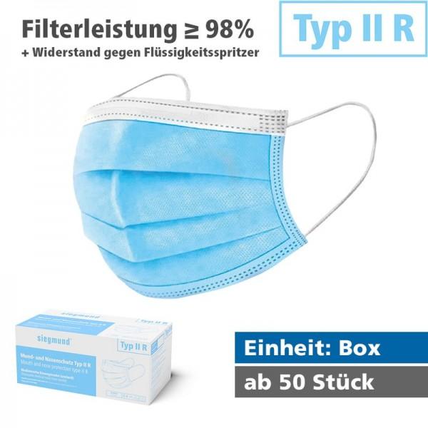 Medizinischer Mund- und Nasenschutz (Box/50 Stück)